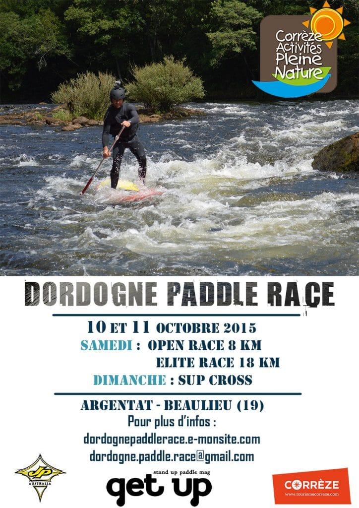 Dordogne Paddle Race 2015, du stand up paddle en eaux vives