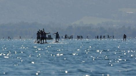 Quatrième Open Stand up paddle Race du Lac d'Annecy 2015