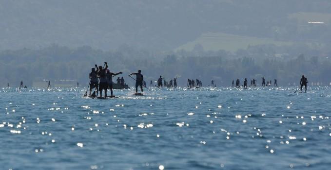 Quatrième Open Stand up paddle Race du Lac d'Annecy 2015