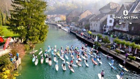 Finale de l'Alpine Lakes Tour sur le canal de Savière
