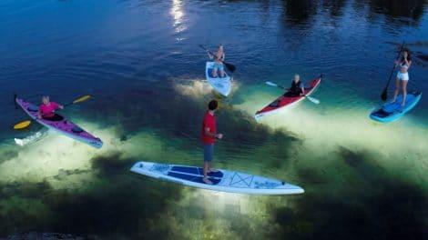Glowtube de Navisafe, l'accessoire pour le stand up paddle de nuit