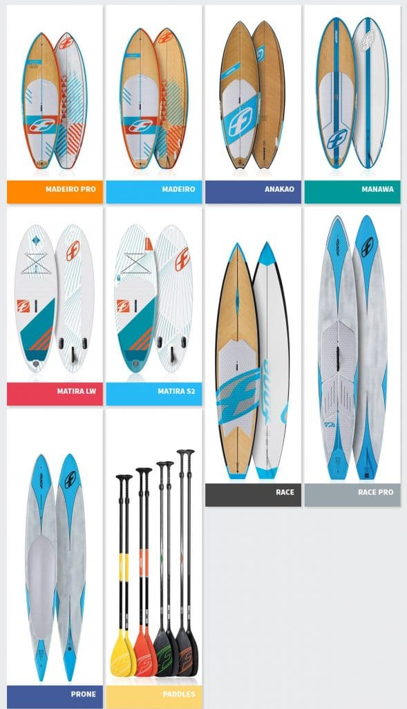 Nouvelle collection de stand up paddle F-One 2016