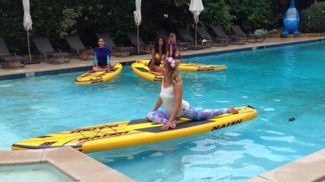 Le Sup Yoga avec Sarah Hébert lors de la Summer Cup