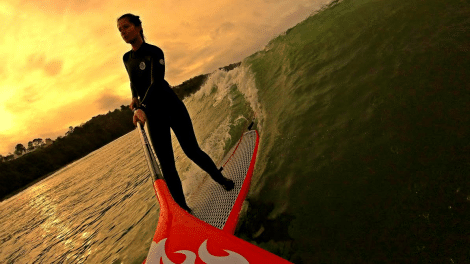 Fixer sa Gopro sur sa pagaie de stand up paddle