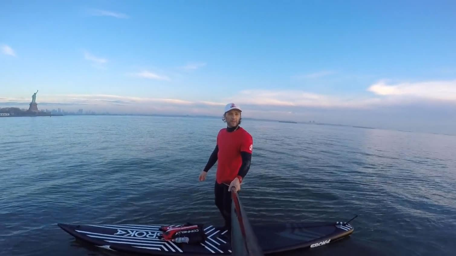 Ballade en stand up paddle à New York avec Dariusz Garko