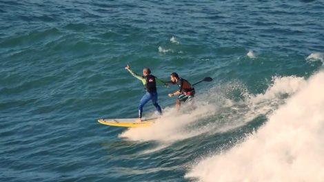 Carbone zéro, une émission Eurosport avec du stand up paddle