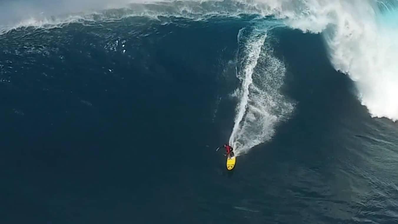 Jaws le 15 janvier avec Kai Lenny en stand up paddle