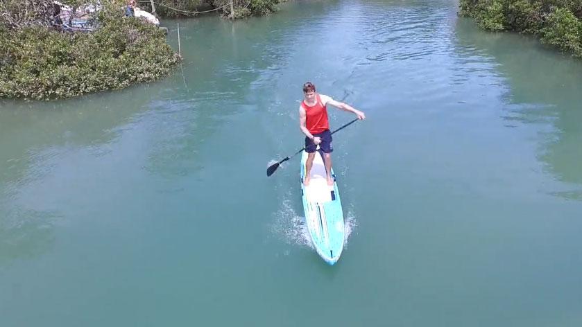 Travis Grant Sup Training Camp en Nouvelle-Zélande