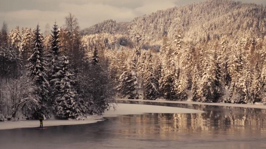Vidéo stand up paddle en Norvège avec Fanatic