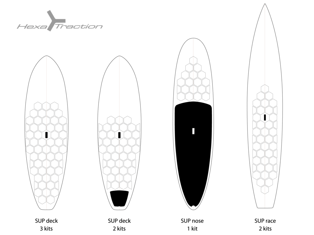 Grip sup invisible HexaTraction Board Grip RsPro