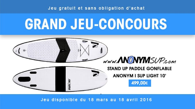 Gagnez une planche de stand up paddle Anonym I Sup Light 10'