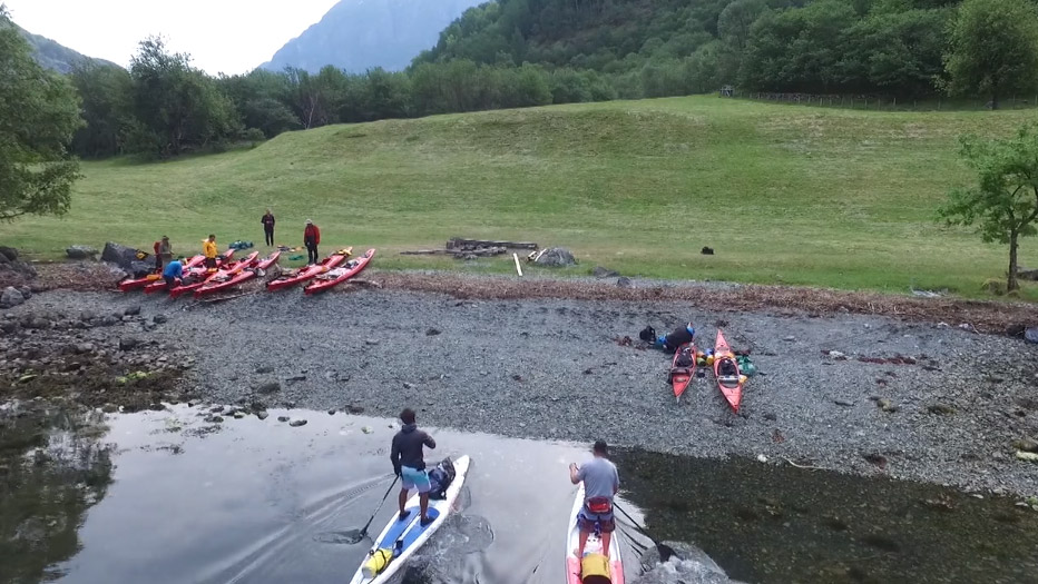 Vidéo stand up paddle Sup Norway Sognefjord