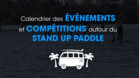 Le calendrier des événements et courses de stand up paddle