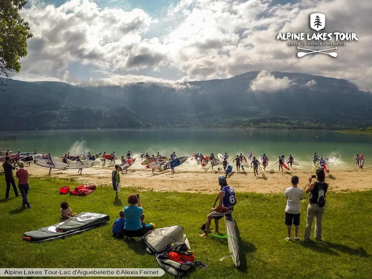 Flat Sup Race sur le lac d'Aiguebelette le 17 avril 2016