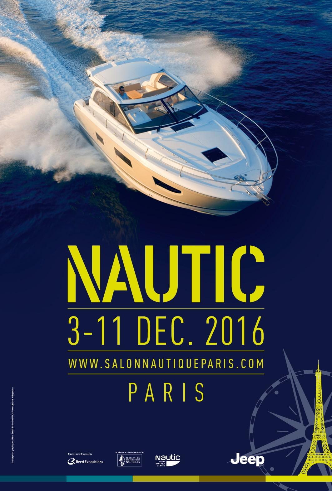 salon nautic affiche 2016 bateau