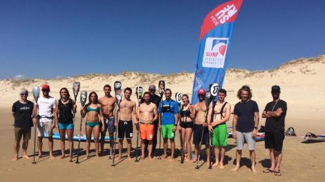 Puyo, Arutkin et Piana en Bleu et en stand up paddle !