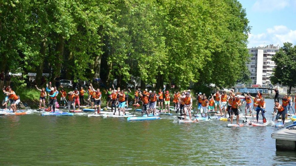 Retour sur la course de stand up paddle de Lille 2016