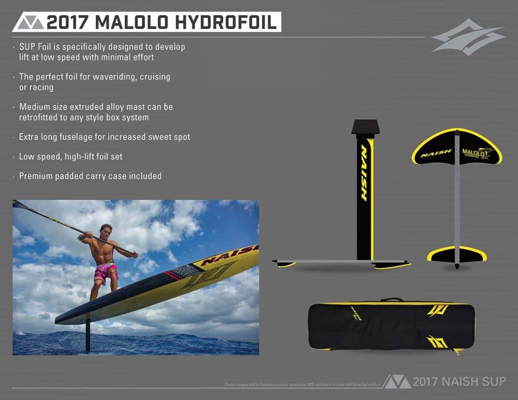 Avant première Malolo Sup Foilboard & Hydrofoil Naish
