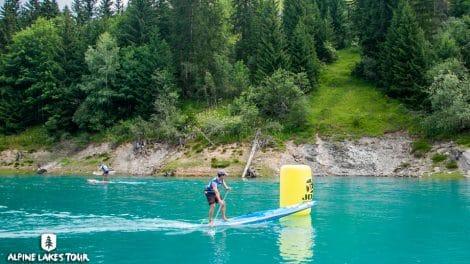 Wild Race Alpine Lakes Tour sur le lac de Roselend