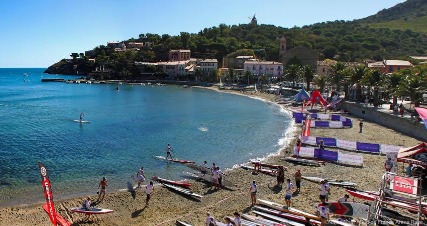 La Collioure Arena Race, étape de l'Oxbow Sup Challenge 2016