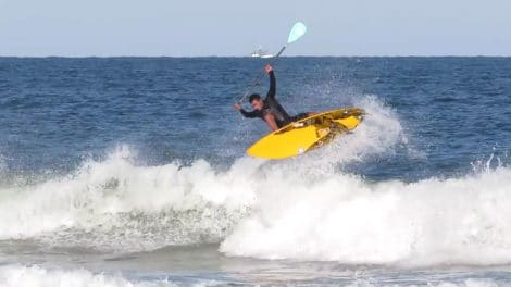 Vidéo stand up paddle avec le Brésilien de Guaruja, Luiz Diniz