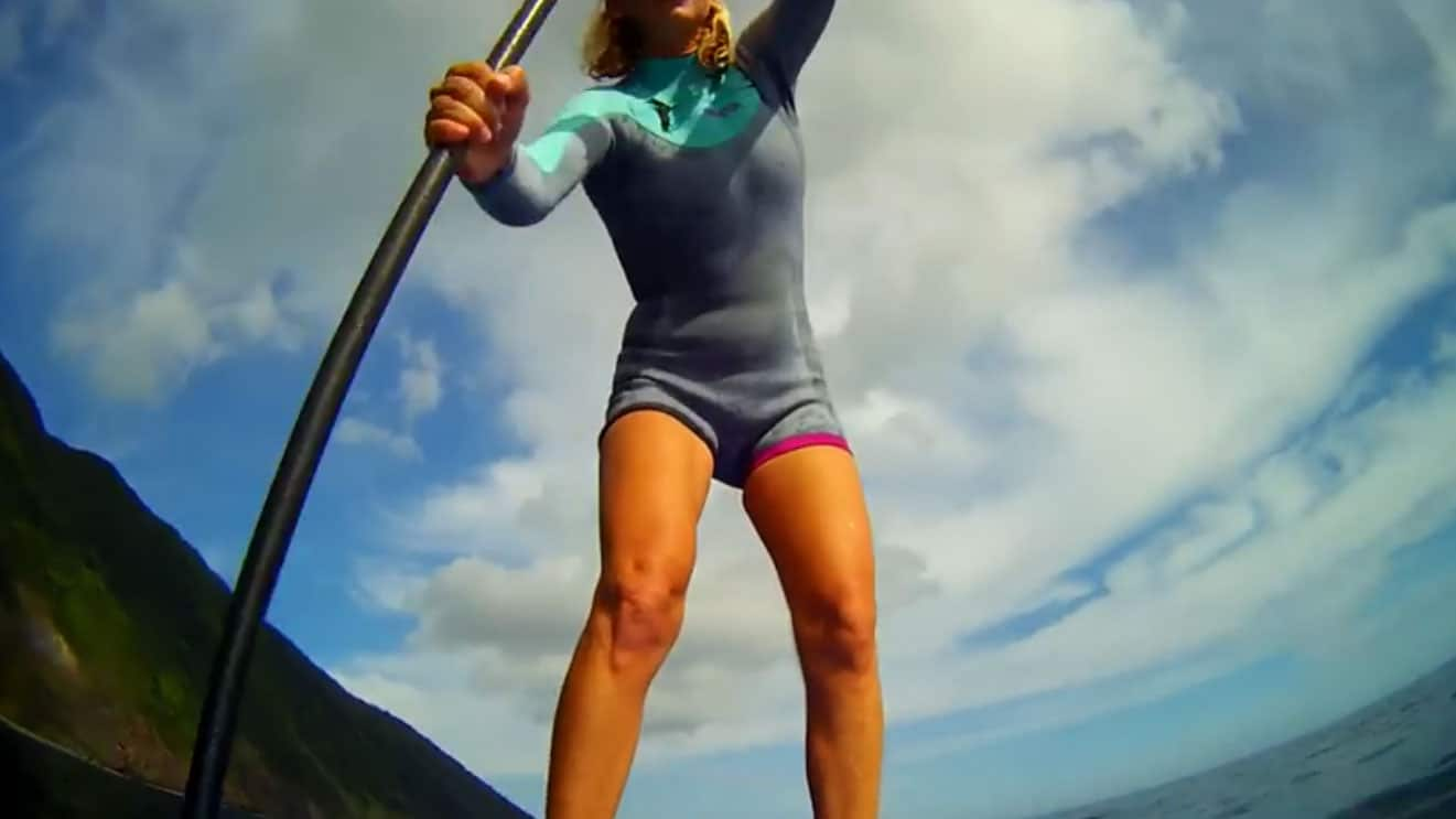 Stand up paddle vidéo Azores Atlantide Vibes