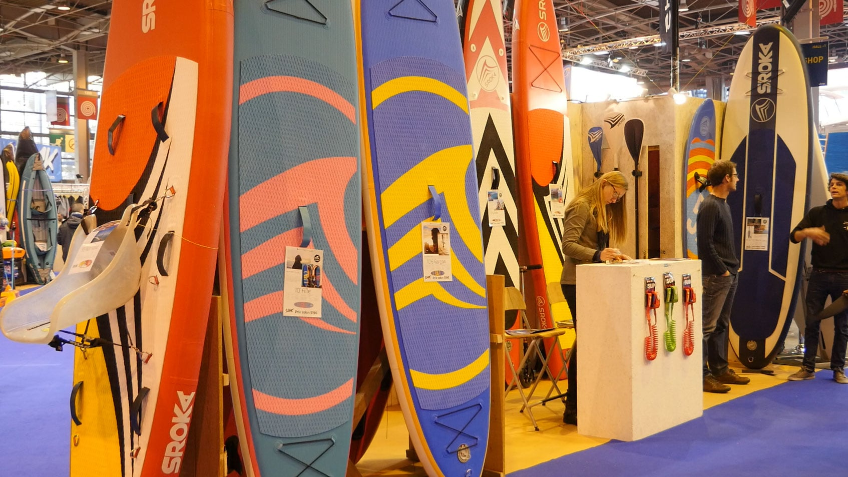 Stand up paddle Sroka au Salon Nautique de Paris 2016