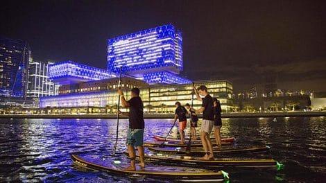 La course de paddle Sorbonne Race 2017 aux UAE à Abu Dhabi