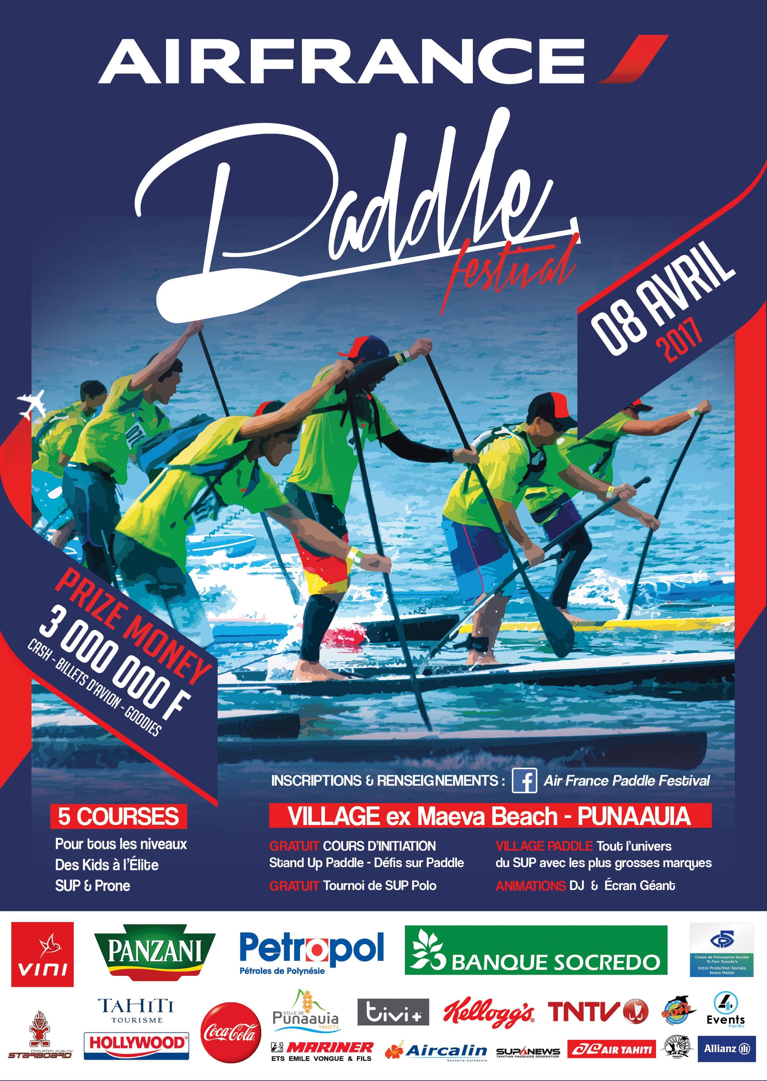 4ème édition de l'Air France Paddle Festival de Tahiti