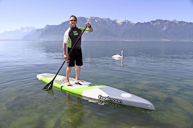 La traversée du Rhône en stand up paddle par Bruno Verdi