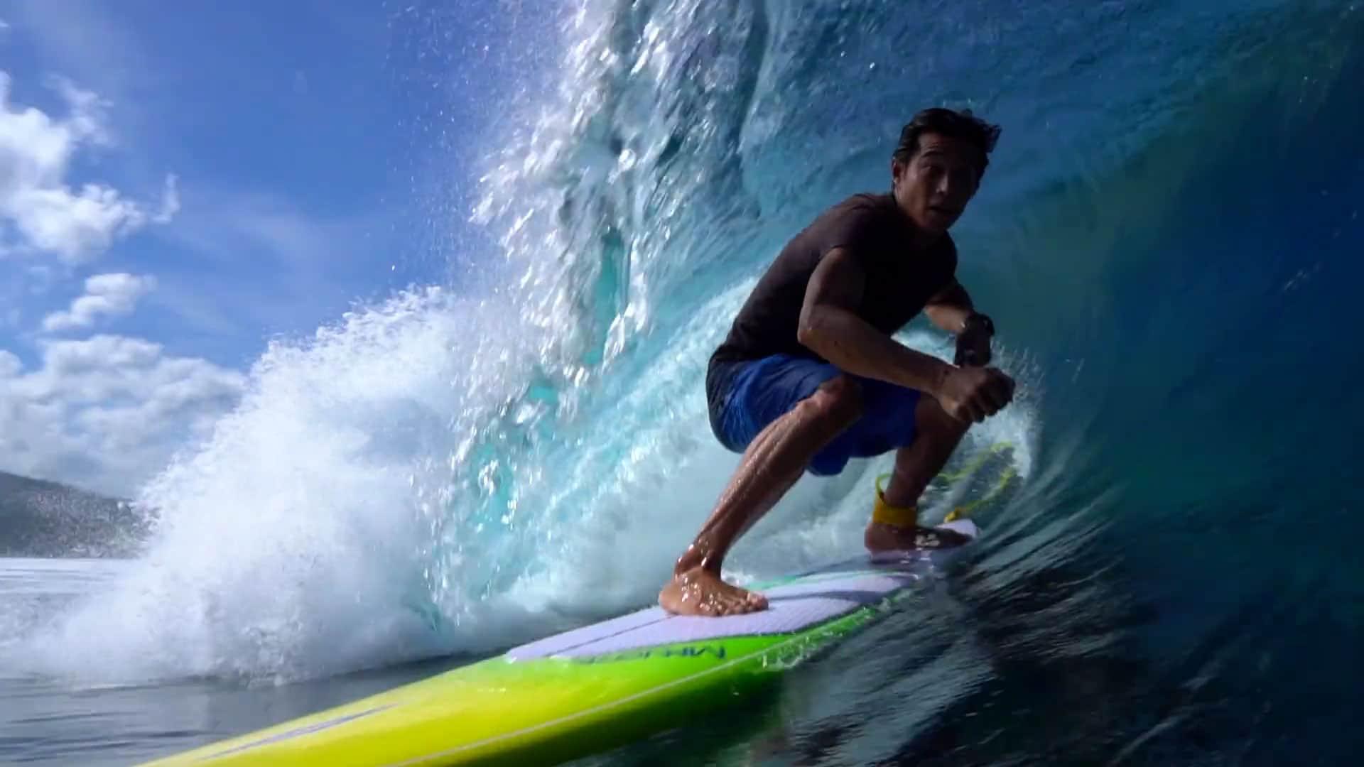Nouvelle vidéo stand up paddle Moemoea de F-One