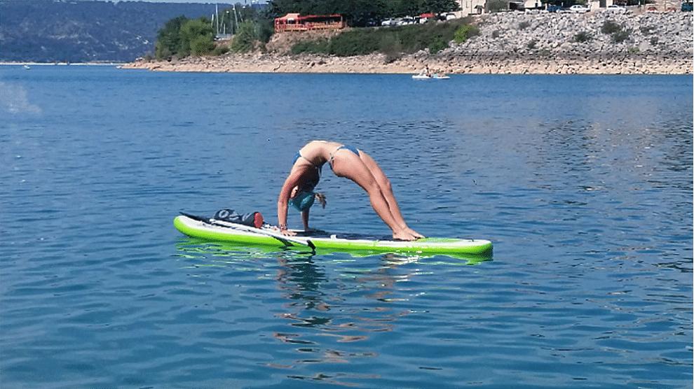 Portrait de Celie, notre Sup Addict pratiquant le Sup Yoga
