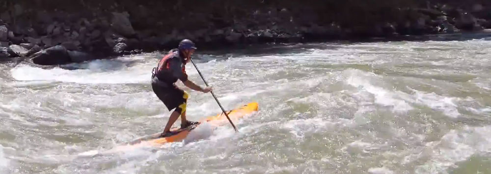 Stand up paddle eau vive
