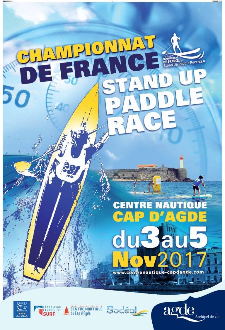 Championnat de France de sup au Cap d'Agde du 3 au 5 novembre 2017