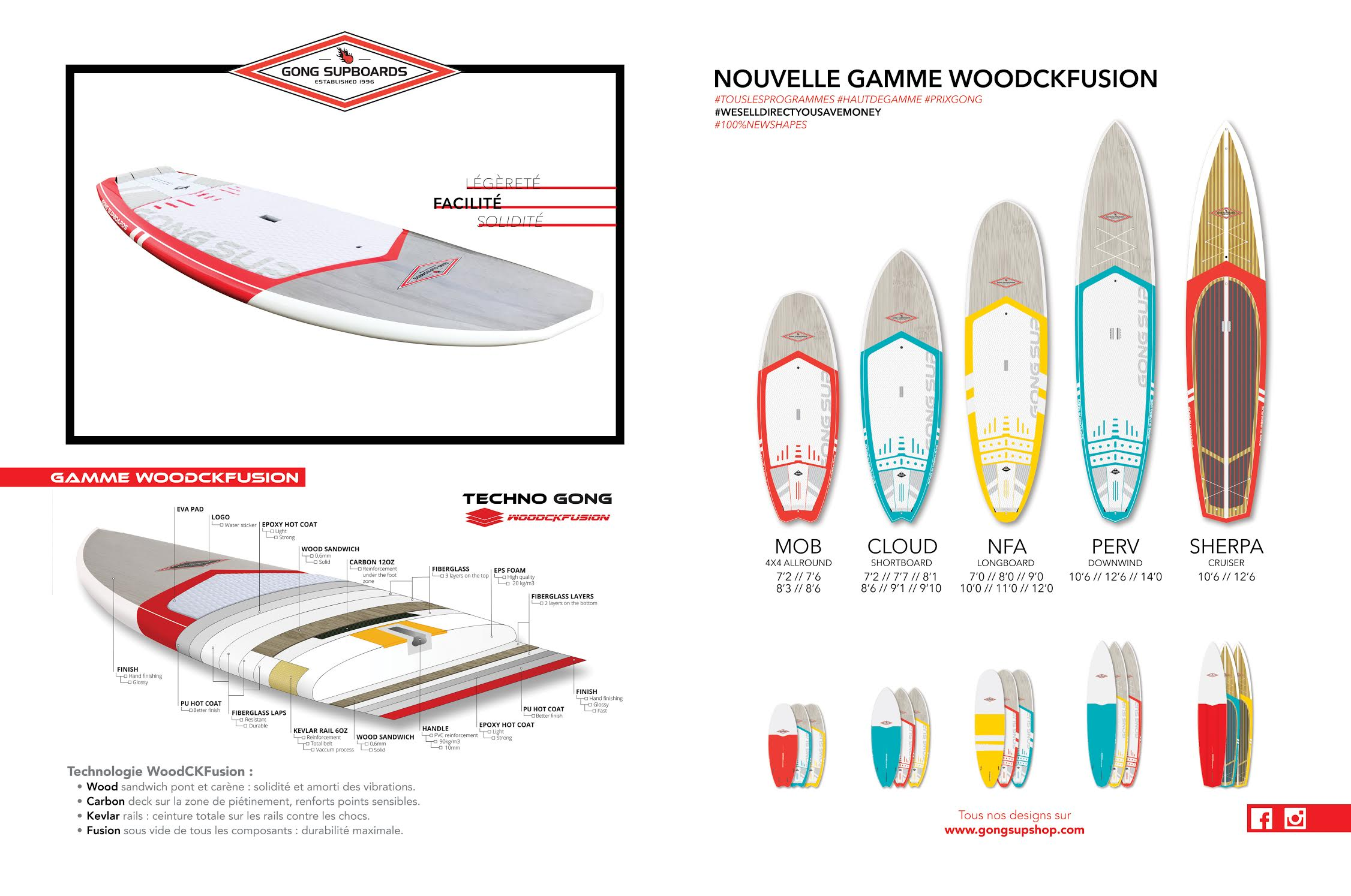 Nouvelle gamme de stand up paddle WoodCKFusion chez Gong