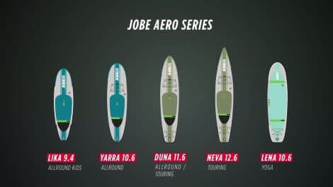 Les stand up paddle gonflables de qualité de Jobe Sports