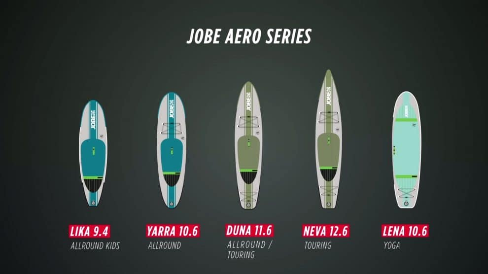 Les stand up paddle gonflables de qualité de Jobe Sports