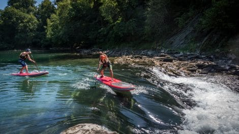 Stand up paddle en eau vive sur le Gave d'Oloron