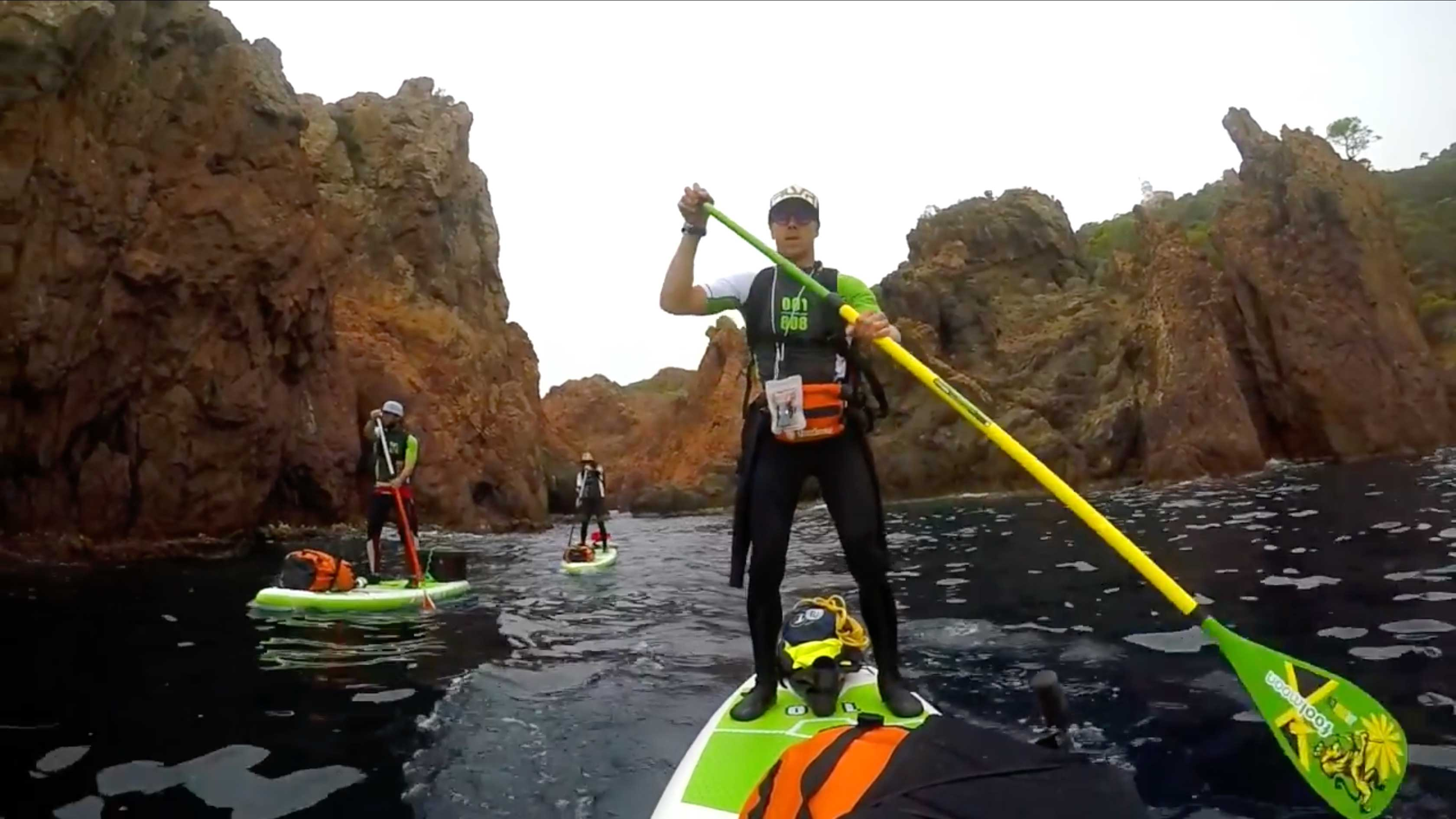 De belles images de l'Ile d'or en stand up paddle