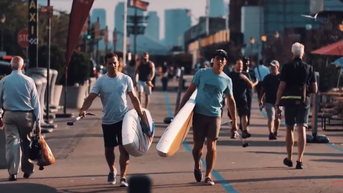 Vidéo stand up paddle à New York avec les Teulade brothers