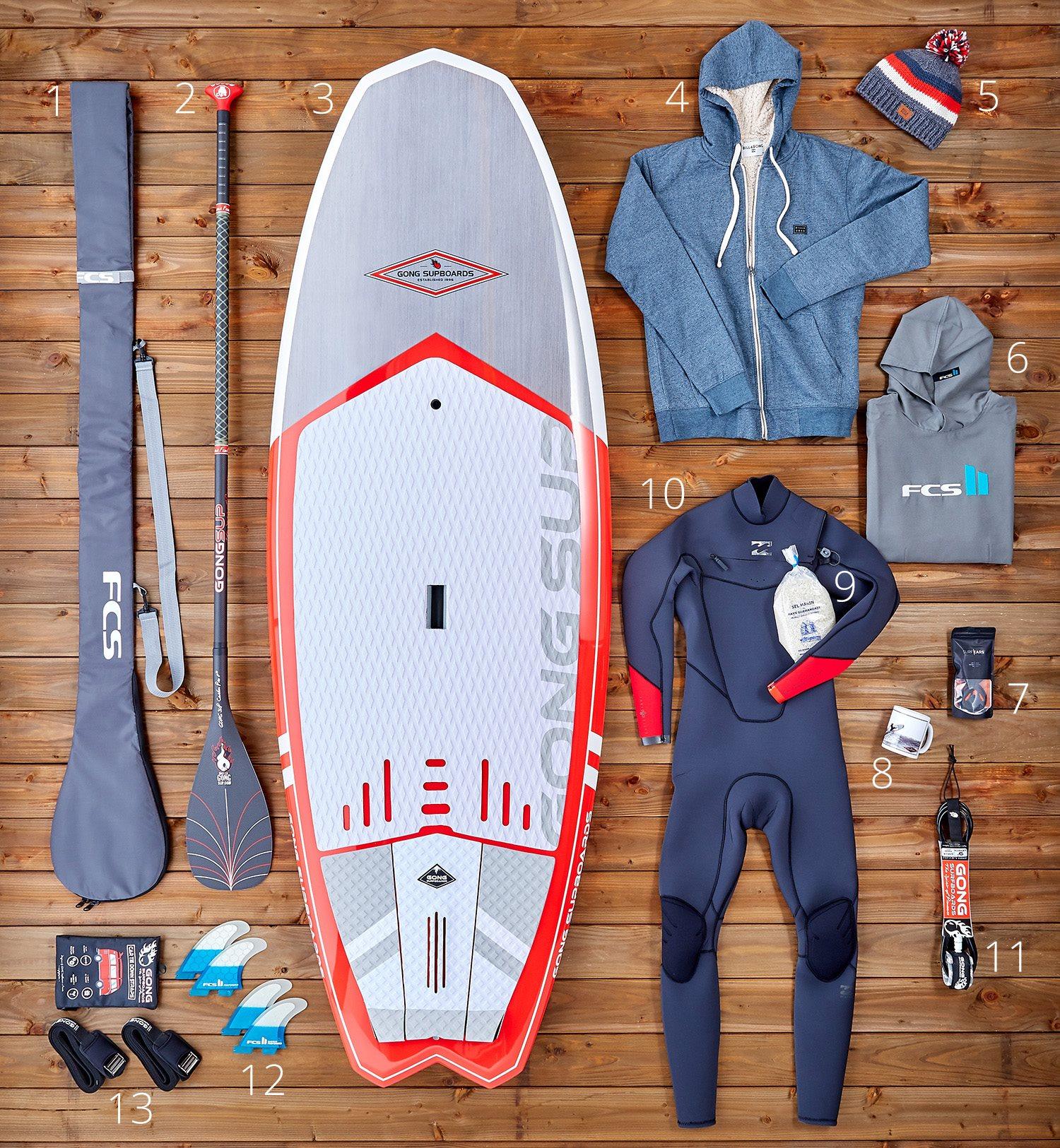 Les bonnes idées cadeaux de Noël de chez Gong Surfboards