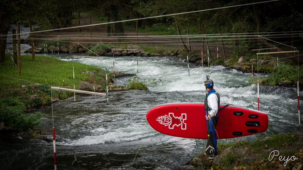 Vidéo de River stand up paddle à Orthez avec Peyo Moustrou