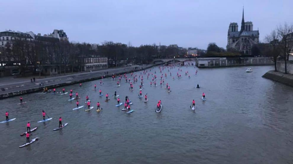 Record battu, 700 participant au Nautic Sup Paris Crossing 2017