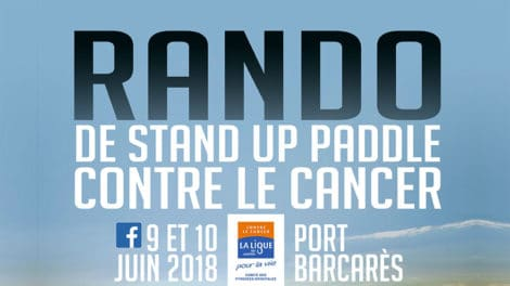 Evénement stand up paddle sur le Barcarès au profit de la Ligue contre le Cancer