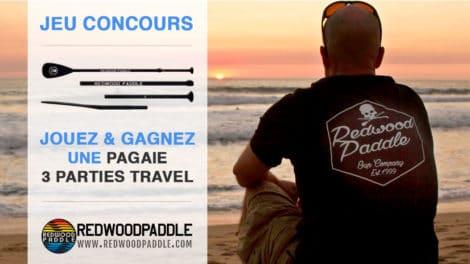 Jouez et gagnez une pagaie de stand up paddle RedwoodPaddle 3 parties