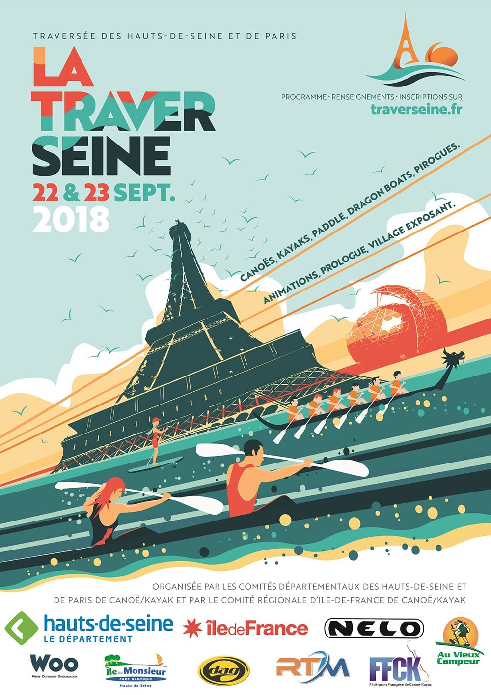 La traversée de Paris en stand up paddle avec Traverseine