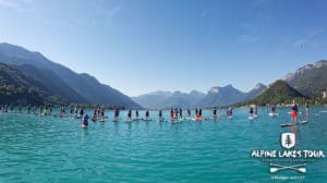 Pop & Fat Race stand up paddle à Talloires avec plus de 120 participants