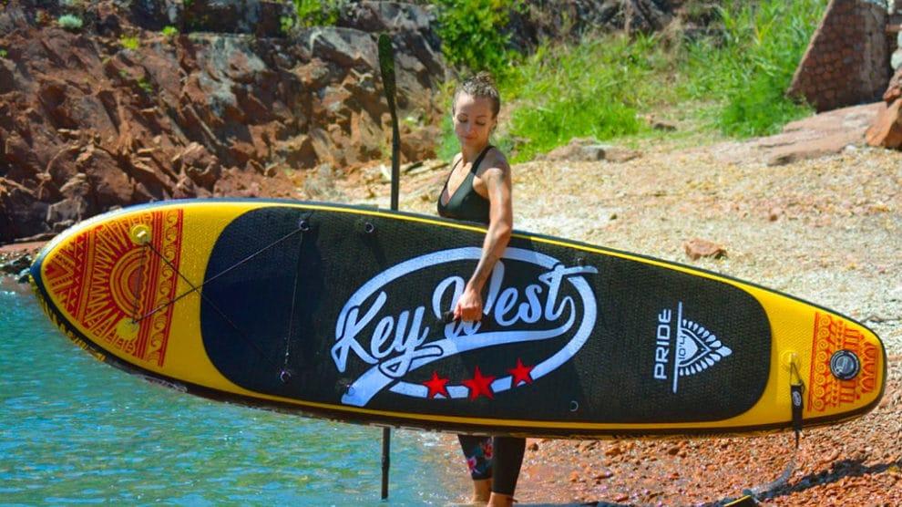 Nouveau venu sur le marché, Key West est une marque de stand up paddle gonflable utilisant de la technologie Dropstitch et disponible chez Nootica.