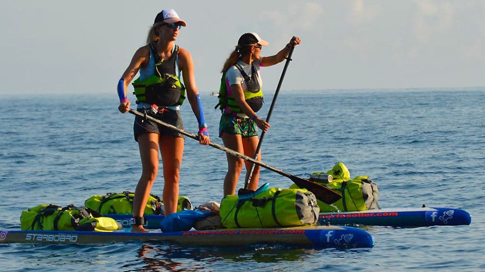 555km en stand up paddle pour sensibiliser à la pollution marine