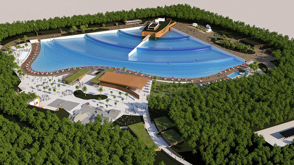 Une piscine à vagues wavegarden dans les Landes